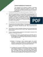m Tech Regulation 2004