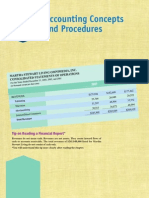 Accounting Procedures and Concepts