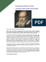 Historia de La Astronomía en Hechos y Fechas