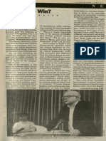 Can Bernie Win? | Vanguard Press | Mar. 22, 1990