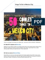 The 50 Coolest Things To Do In Mexico City