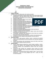 4. Spesifikasi Teknis