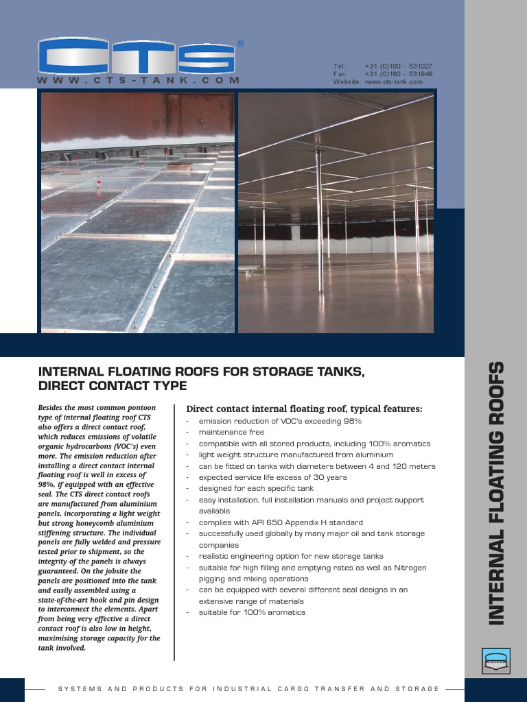 Internal Floating Roofs Honeycomb Eng | Industries
