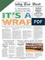 The Daily Tar Heel for September 9, 2014