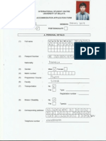 Acomodation Form