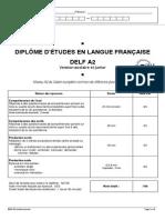 Exemple Sujet Delf a2 Scolaire