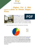 Demand Higher for 2 BHK Apartments in Viman Nagar, Pune