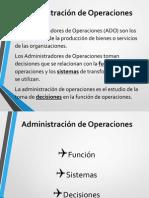 Administracion de Operaciones Cap.1