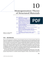 Nonlocal Homogenization Theory of Structured Materials
