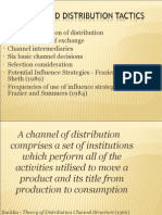 Bucklin's Definition of Distribution  Today's System of Exchange 