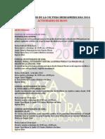 Agenda Lima Cultura Mayo 2014