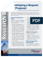 Developing a Request for Proposal