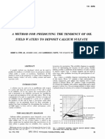 A Method for Predicting the Tendency of Oil Field Waters to Deposit Calcium Sulfate