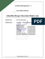 OM1 Case Analysis Scharffen Berger Chocolate Maker Group1