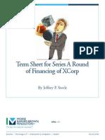 Sample Term Sheet