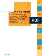 Preliminary report MH17