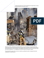 One of the Pieces of Evidence Conspiracy Theorists Use to Say the Buildings Were Brought Down is a Photo With Something They Interpret as Being Left Behind by a Thermite Reaction