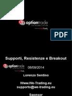 Supporti e Resistenze con le Opzioni Binarie