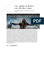 Middle-Earth_ Shadow of Mordor – 10 Characters Who Must Cameo