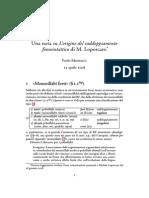 Una nota su L'origine del raddoppiamento fonosintattico di M. Loporcaro