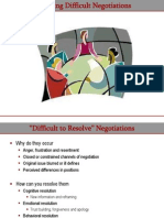 Managing Difficult Negotiations