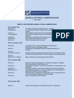 Philippine Journal of Public Administration