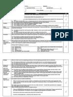 Formal Lab Report Rubric