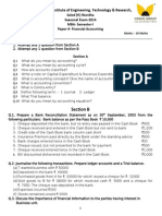 Question Paper of Financial Accouting