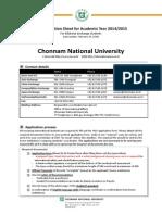 Info Sheet Exchange Chonnam National University 2014 15 (1)