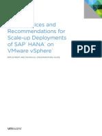 SAP HANA on Vmware VSphere Best Practices Guide