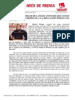 El PP Debería Dejar de Lanzar Anuncios Que Luego No Se Cumplen Respecto a La Educación Pública en Alcalá