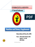 Nutrition and Dietary Supplements