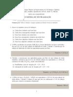 Lista de Exercícios 4 - Volumetria de Neutralização