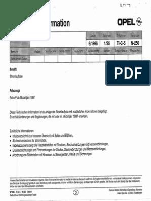 Opel Astra f Wiring Diagram | OpelScribd