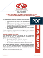 Fact File 01 - Regulations Relating to Pressurised Fire Extinguishing Products and Systems