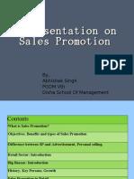 A Presentation on Sales Promotion