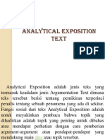 Analytical Expotition