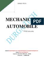 MECHANICAL/ AUTOMOBILE              TITLES 2014-2015