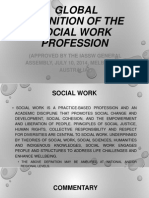 Global Definition of the Social Work Profession