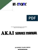 Akai 4000ds Mki II Service