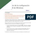 Descripción de La Configuración de Firewall de Windows