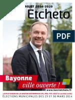 Bayonne Ville Ouverte - Projet 2014-2020