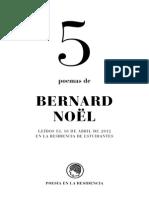5poemas Bernard Noel