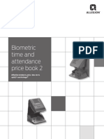 Biometric Time and Attendance Price Book Oct 2014