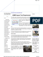 ASME Impact Test Requirement - Overview