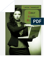 Daily Equity Report 10sep by CapitalParamount