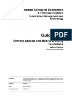 Guidelines Remote Access and Mobile Working Guidelines v1 1