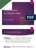 Stephanie's Boutique - Retail Marketing case