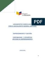 Lineamientos Curriculares Emprendimiento y Gestion de Principios de Contabilidad y Estadística Aplicada Web Tercero Bachillerato