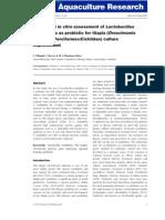 Aquaculture Research Volume issue 2012 [doi 10.1111_are.12051] Villamil, L; Reyes, C; Martínez-Silva, M A -- In vivo and in vitro assessment of Lactobacillus acidophilus .pdf